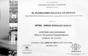 El pluralismo político, 2-06-2006-2
