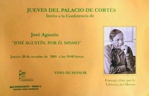 José Agustín, 20-10-2005