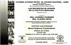 Las encuestas de opinión, 18-08-2006