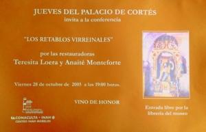 Retablos virrenailes, 28-10-2005