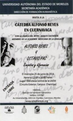 Adolfo Castañón en Cuernavaca