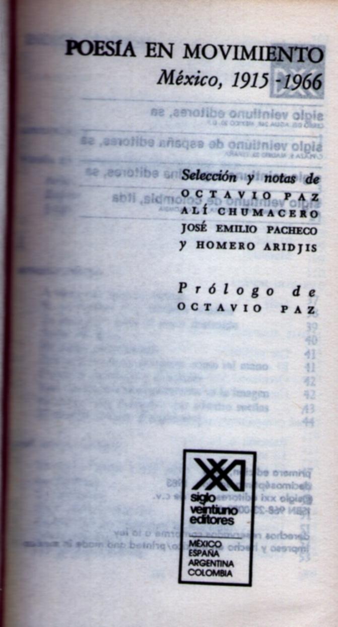 Advertencia. Por Paz, Chumacero, Pacheco y Aridjis
