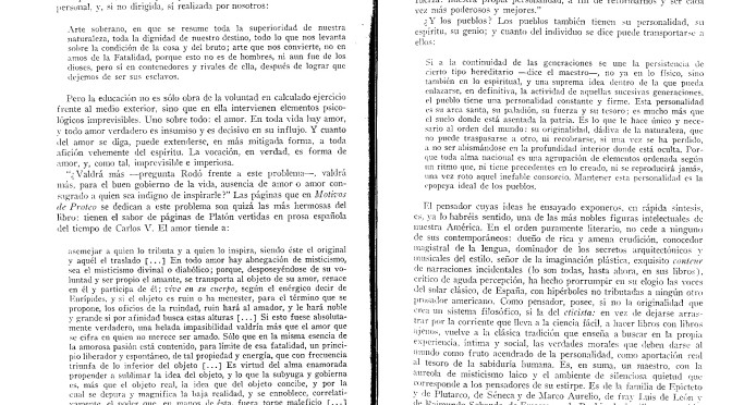 La obra de José Enrique Rodó. Pedro Henríquez Ureña