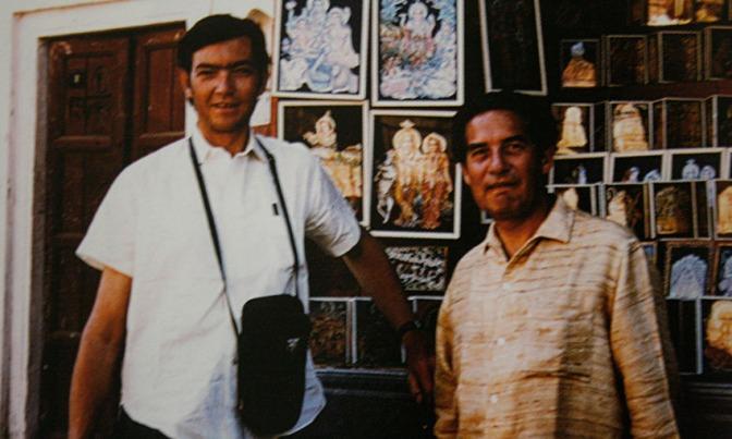 Octavio Paz y Julio Cortázar: baile en la Embajada de México en la India (1968)