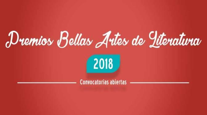 Premios Bellas Artes de Literatura 2018