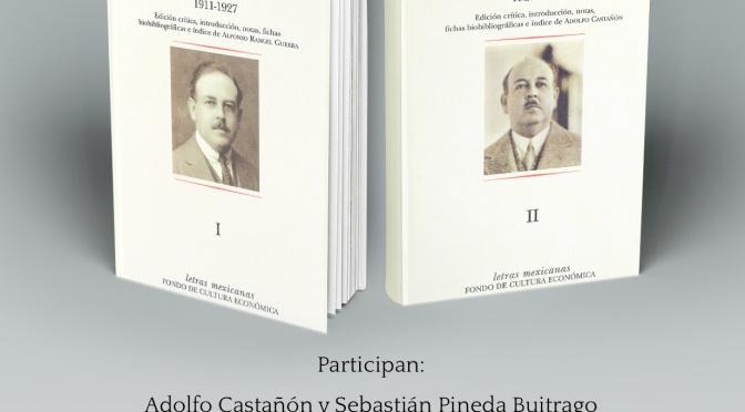 Diarios de Alfonso Reyes: Tomos I y II. Presentación editorial